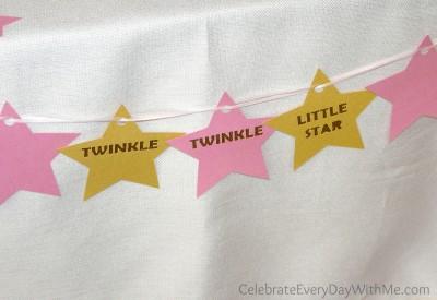 twinkle twinkle little start baby shower