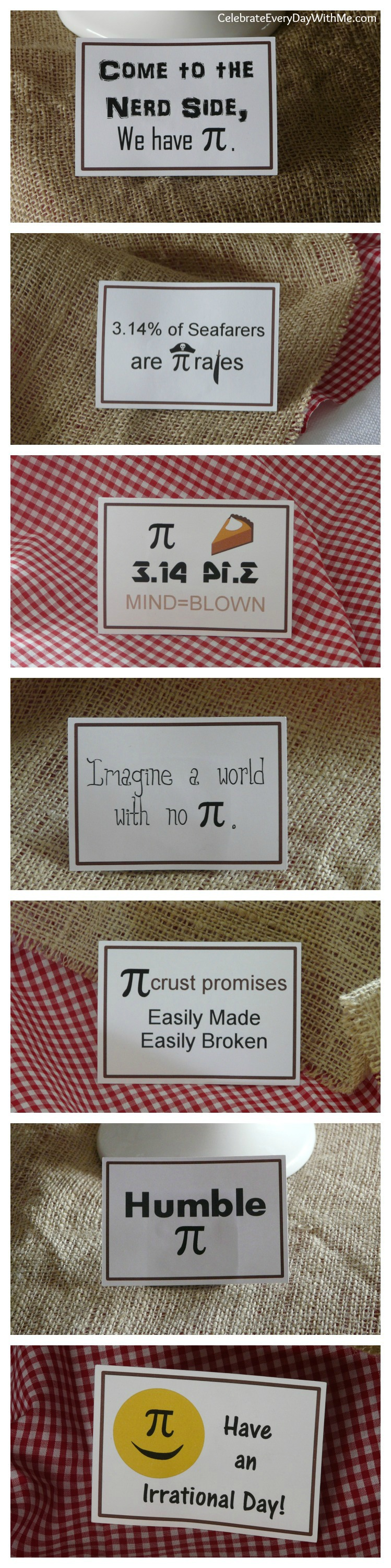 Pi Day Party - Pi Phrases