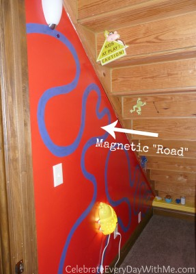 clubhouse wall design-magnetic road
