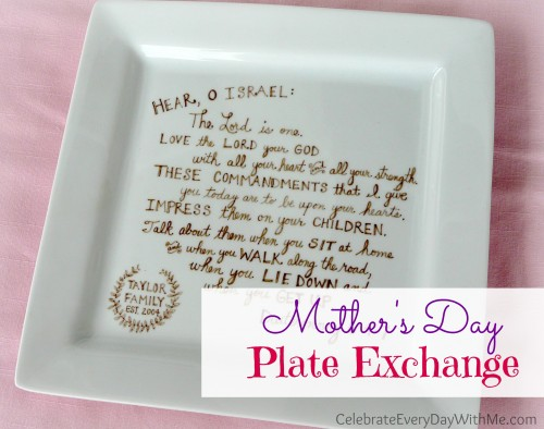Mother's Day Plate Exchange