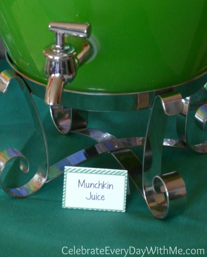 Munchkin Juice for Wizard of Oz Party