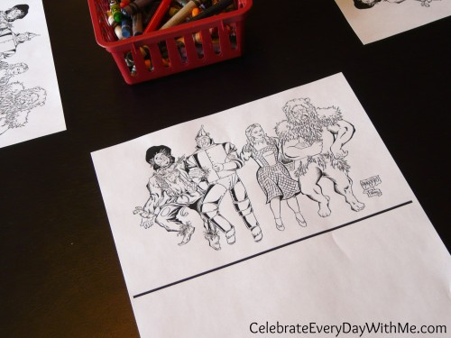 Wizard of Oz Coloring Sheet