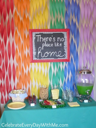 Wizard of Oz Party Table