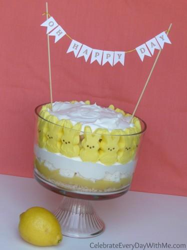 lemon desert with peeps
