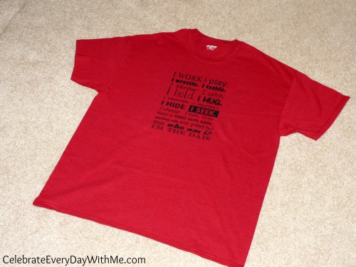 DIY heat transfer t-shirt for Father's Day