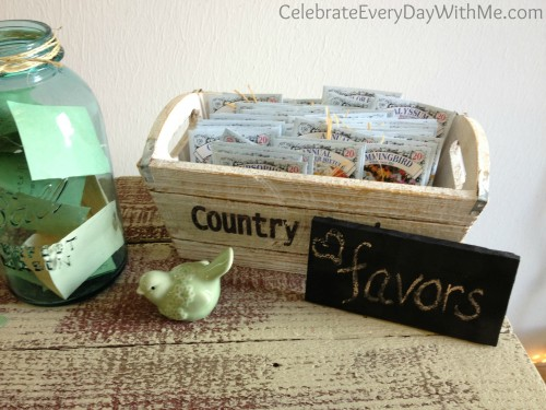 country bridal shower favors