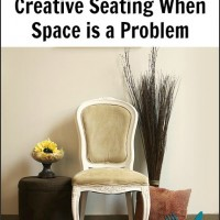 Creative Seating when Space is a Problem ~ Entertaining Fridays #4