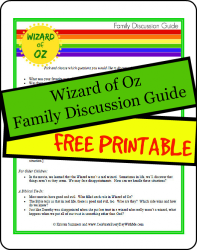 Wizard of Oz Family Discussion Guide