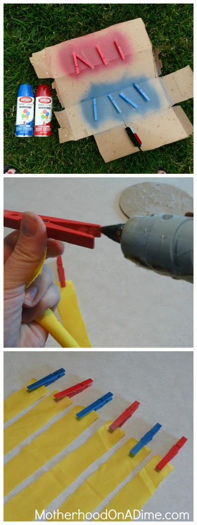how to make clothespin flags with 10 games and activities.