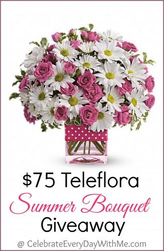 $75 Teleflora Summer Bouquet Giveaway