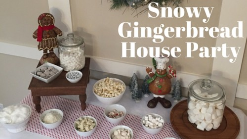 Snowy Gingerbread House Party