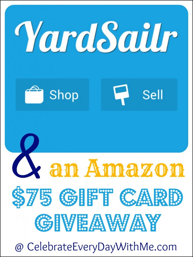 amazon 1000 gift card giveaway the yardsailr app an amazon 75 giveaway celebrate 9218