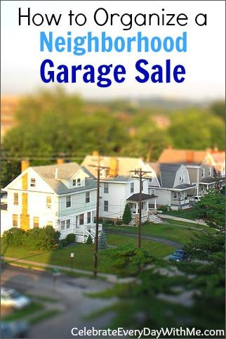 how to organize a neighborhood garage sale.