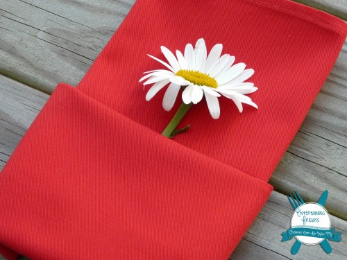 perfect summer napkin fold