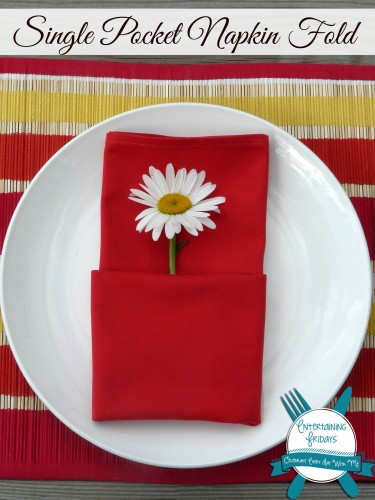 single pocket napkin fold