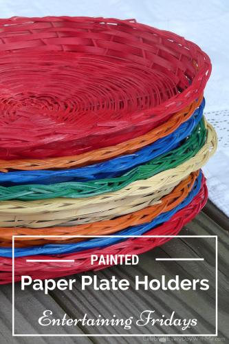 DIY - Painted Paper Plate Holders