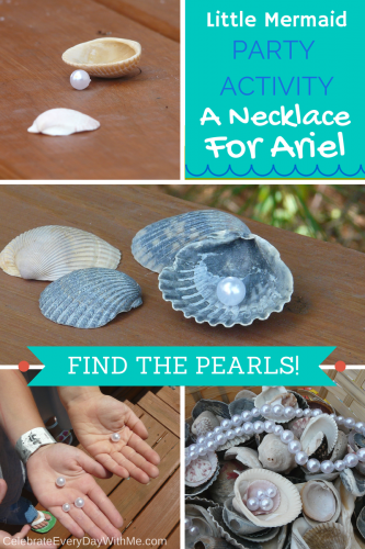 This is a GREAT activity for a Little Mermaid Party!  The kids will love it!!