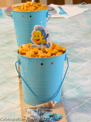 little mermaid party snack with flounder