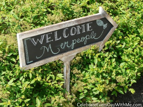 little mermaid party welcome sign