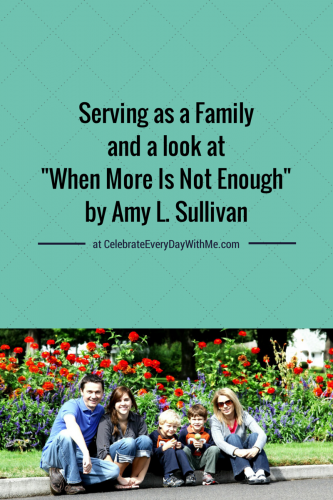 Serving as a Family and a look at When More Is Not Enough by Amy L. Sullivan