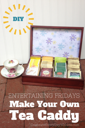 DIY Tea Caddy project
