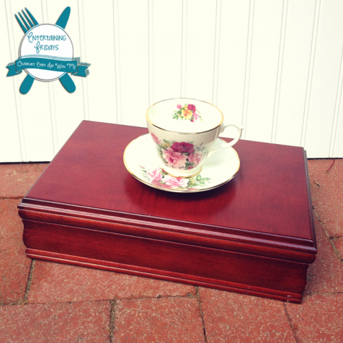 Turn an old jewelry box into a tea caddy - DIY