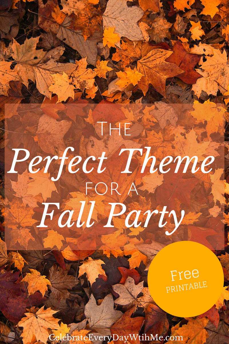 Fall themed party table | Life and Linda