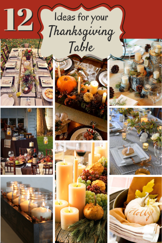 great ideas for my Thanksgiving table!