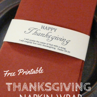 Thanksgiving Printable Napkin Wrap