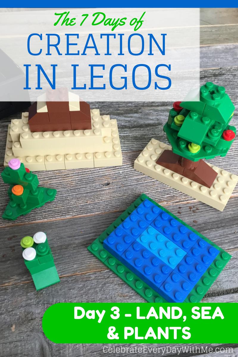the 7 days of creation in legos day 3 u2013 land sea u0026 plants