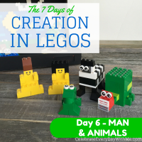 The 7 Days of Creation in Legos {Day 6 – Man & Animals}