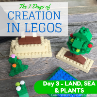The 7 Days of Creation in Legos {Day 3 – Land, Sea & Plants}