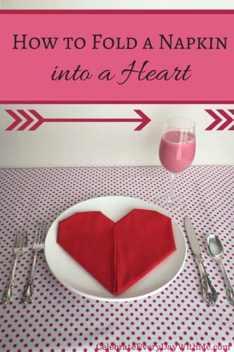 How to Fold a Napkin into a Heart--instructions