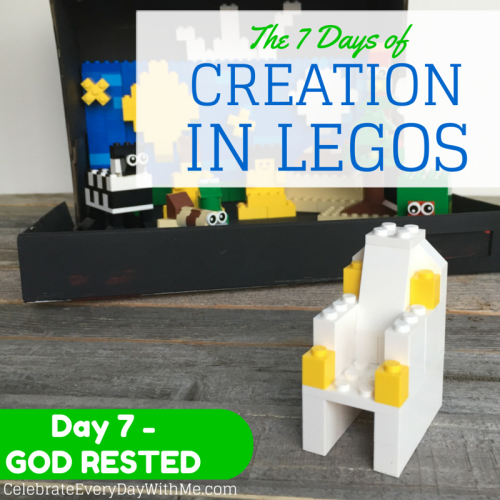 The 7 days of creation in legos - Day 7 God Rested