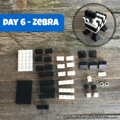 how to make a lego zebra