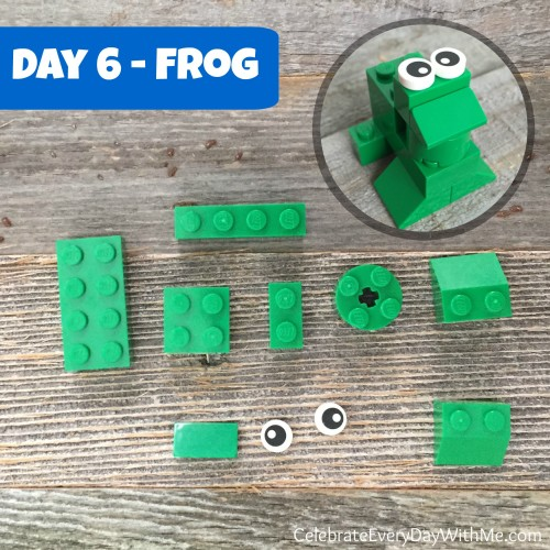 lego frog for day 6