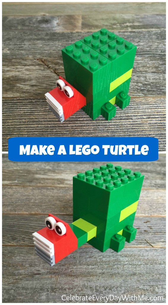 make a lego turtle