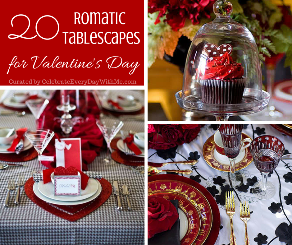 Merveilleux 20 Romantic Tablescapes For Valentineu0027s Day.