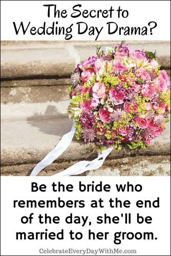 The secret to Wedding Day Drama-