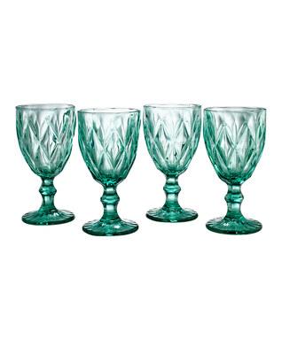 aqua goblets - love!