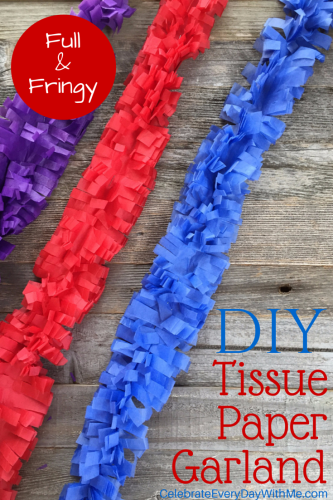 DIY Tissue Paper Garland - Full & Fringy!