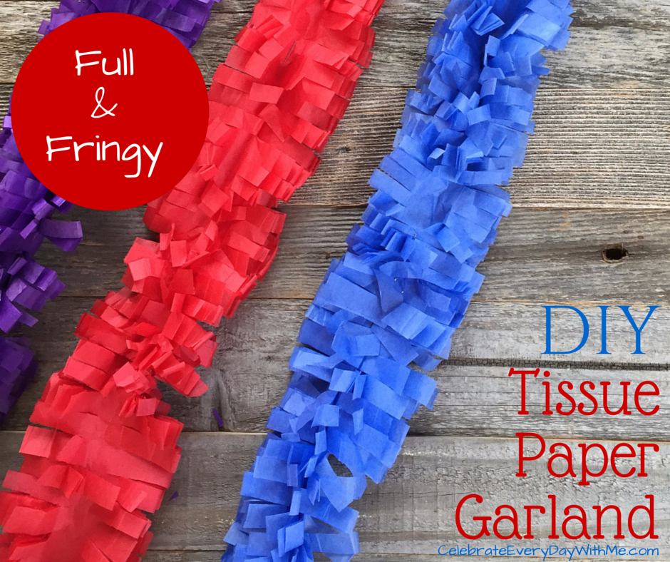 tissue paper garland So i am just popping by to share with you my tissue paper tassel garland tutorial  and show you some sneak peeks of how my christmas dessert.