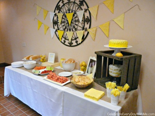 Lemon Table Decor for Lemonade Party