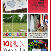 10 FUN Ways to Celebrate Dad!