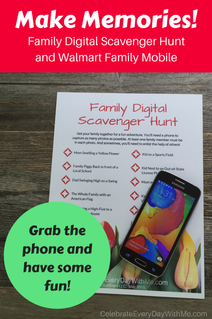 Scavenger Hunt List >> Make Memories with a Family Digital Scavenger Hunt & Walmart Family Mobile - Celebrate Every Day ...