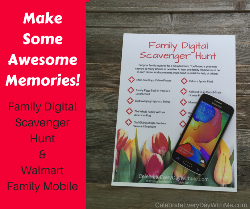 Make Some Awesome Memories!  Family Digital Scavenger Hunt & Walmart Family Mobile