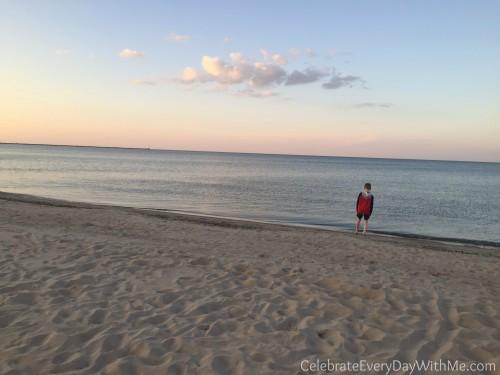 one mile of beach at Cedar Point