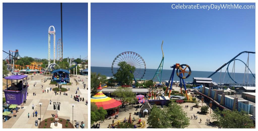 views from Cedar Point Sky Ride