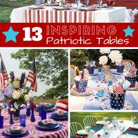 13 Inspiring Patriotic Tables