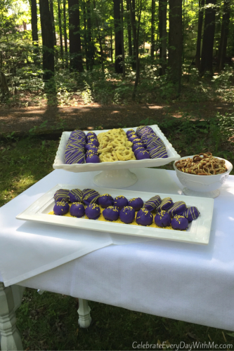 Graduation Party Desserts in School Colors - 4